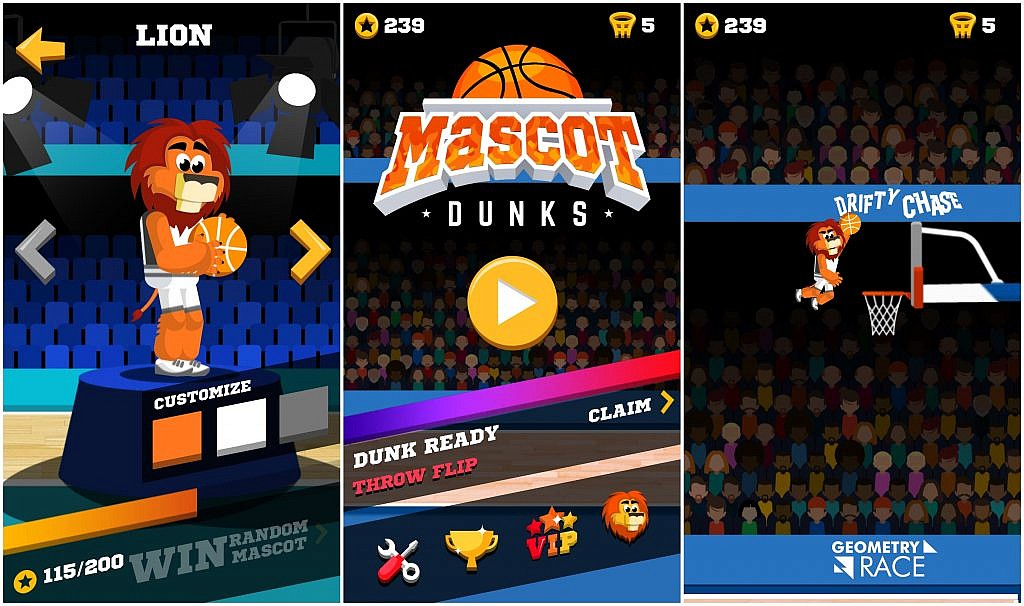 Mascot Dunks - GameBy.pl