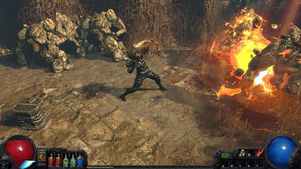 path of exile hack'n'slash